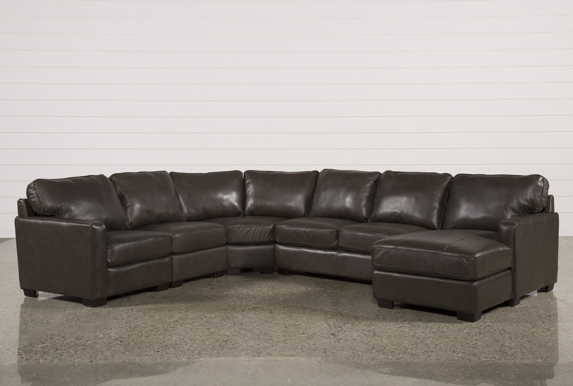 Redford Coffee 5 Piece Sectional Living Spaces