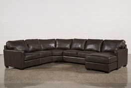 Redford Coffee 5 Piece Sectional W/Raf Chaise