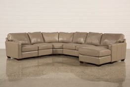Redford Mushroom 5 Piece Sectional W/Raf Chaise