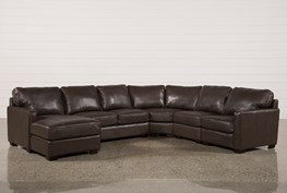 Redford Coffee 5 Piece Sectional W/Laf Chaise