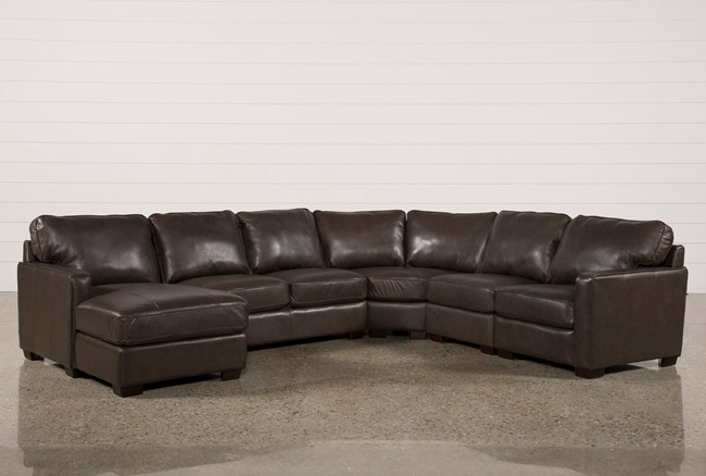 Redford Coffee 5 Piece Sectional W/Laf Chaise - 360