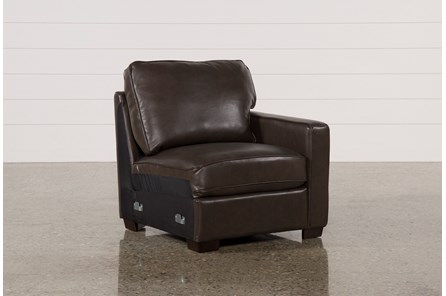 Redford Coffee Leather Right Facing Chair - Main