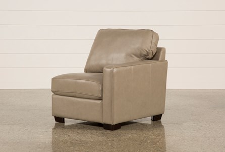 Redford Mushroom Leather Right Facing Chair