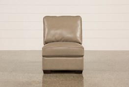 Redford Mushroom Leather Armless Chair