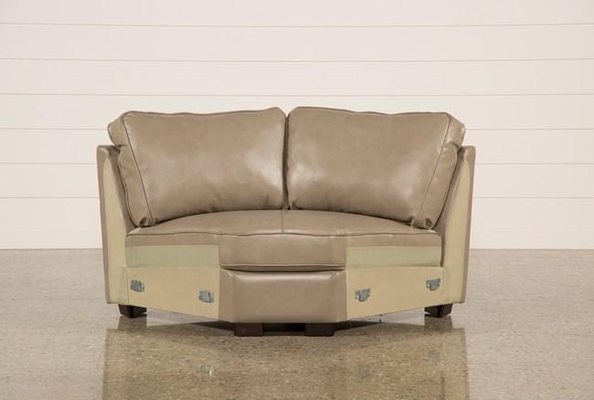 Redford Mushroom Leather Wedge - 360