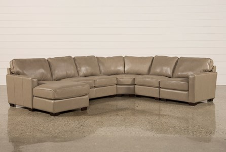 Redford Mushroom 5 Piece Sectional W/Laf Chaise