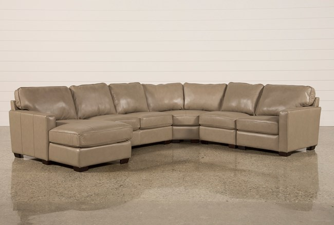 Redford Mushroom 5 Piece Sectional W/Laf Chaise - 360