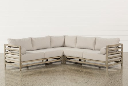 Outdoor PompeII 3 Piece Sectional