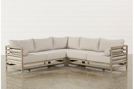 Outdoor PompeII 3 Piece Sectional - Main