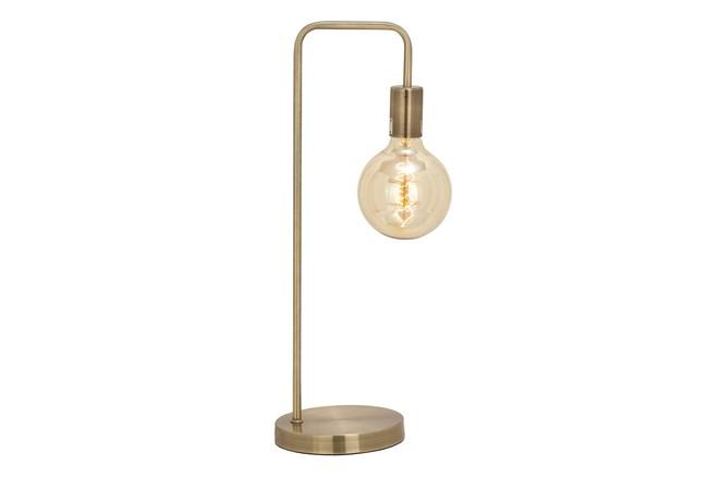 Desk Lamp-Brass Exposed Bulb - 360