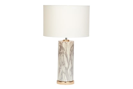 Table Lamp-White Marble
