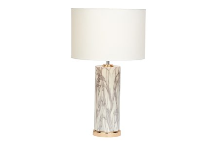 Table Lamp-White Marble - Main