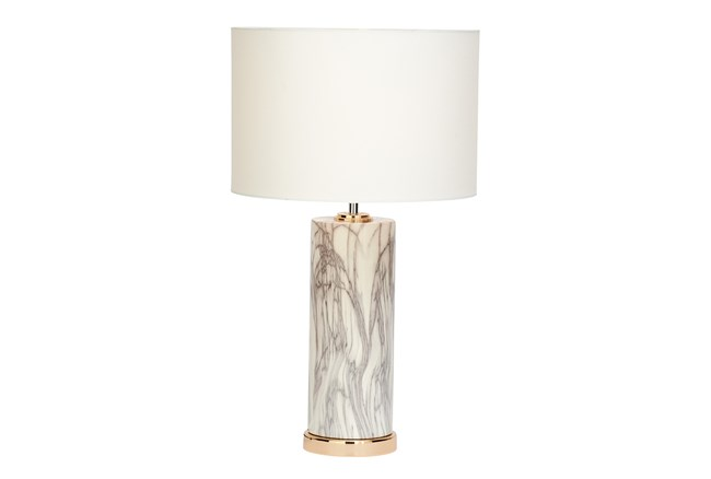 Table Lamp-White Marble - 360