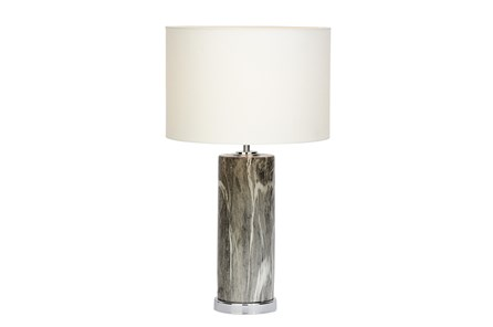 Table Lamp-Grey Marble