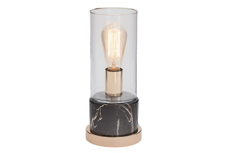 Desk Lamp-Grey Marble W/ Gold