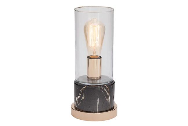 Desk Lamp-Grey Marble W/ Gold - 360