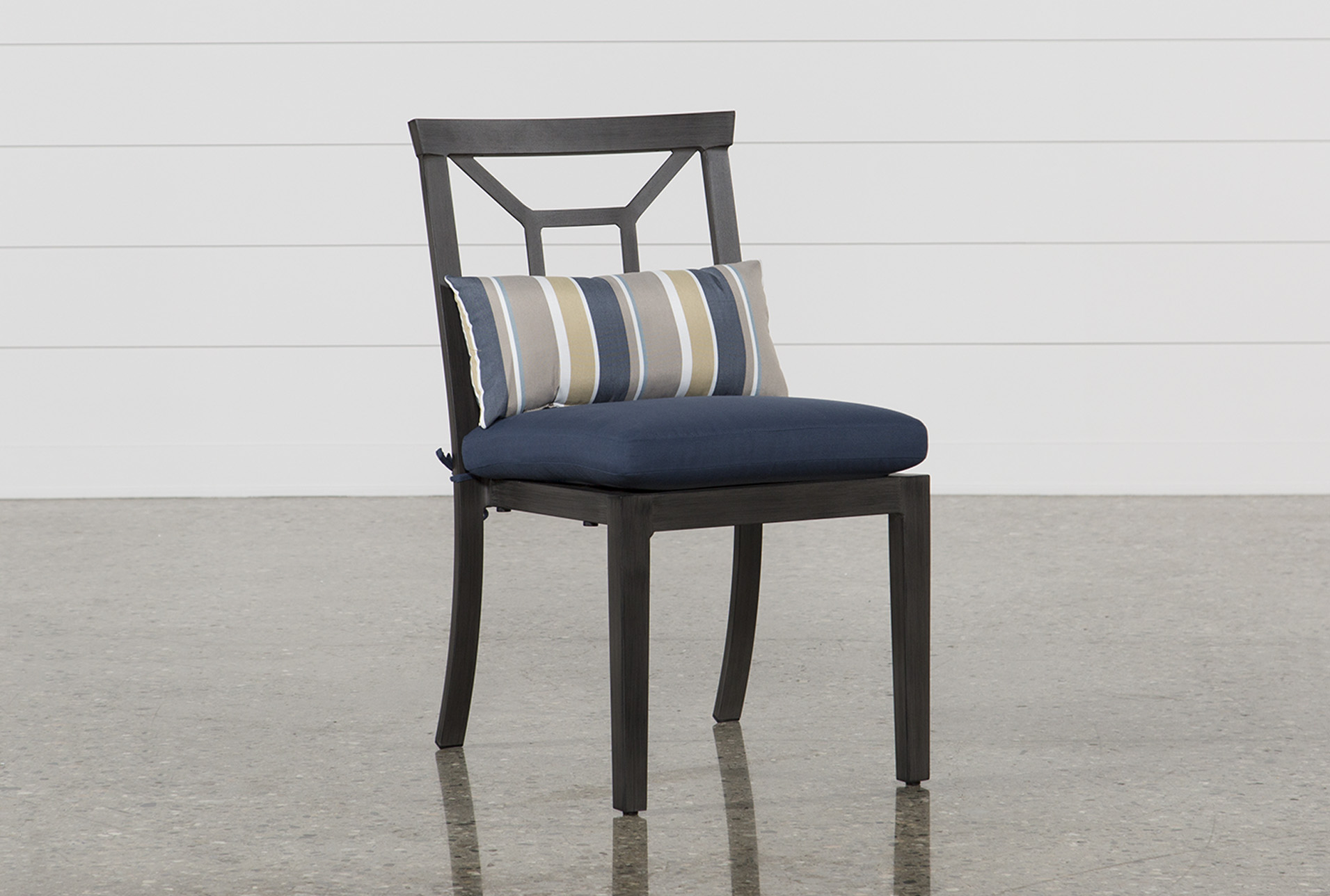 Outdoor Martinique Navy Dining Chair Living Spaces