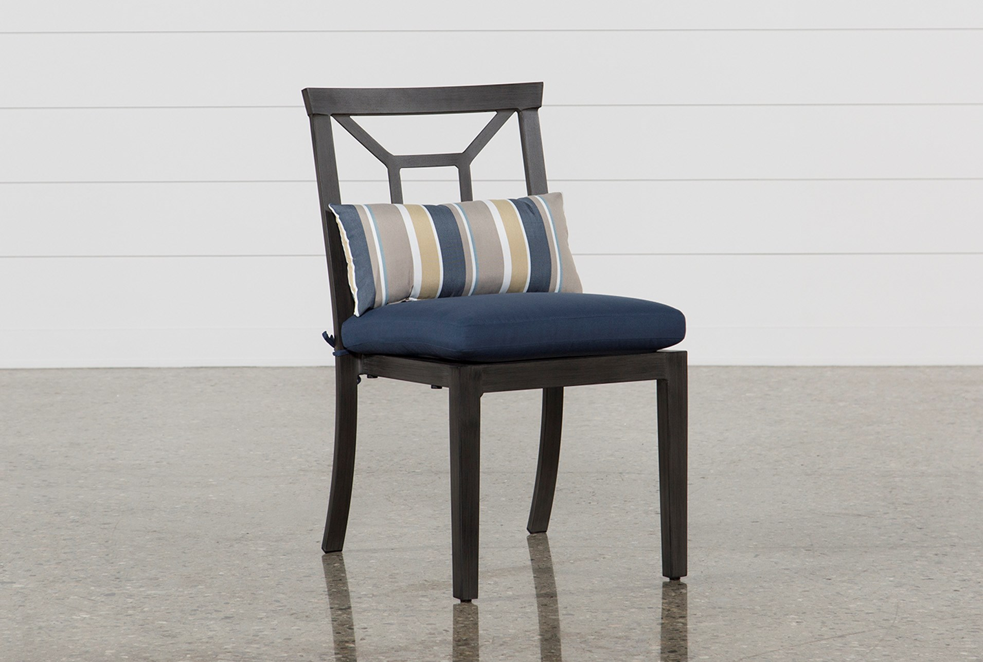 Martinique Navy Outdoor Dining Chair | Living Spaces on Living Spaces Outdoor Dining id=72220