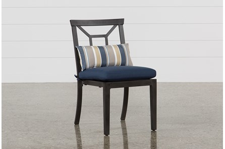 Outdoor Martinique Navy Dining Chair - Main