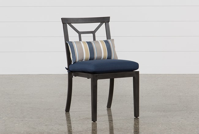 Outdoor Martinique Navy Dining Chair - 360
