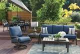 Outdoor Martinique Navy Sofa - Room