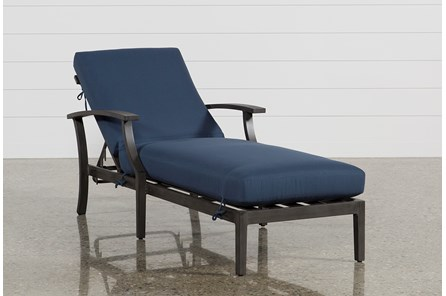 Outdoor Martinique Navy Chaise Lounge - Main
