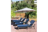 Outdoor Martinique Navy Chaise Lounge - Room