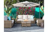 Outdoor Aventura Cocktail Table W/Two Ottomans - Room