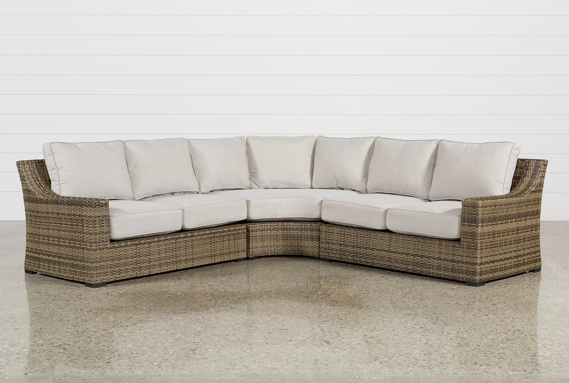 Outdoor aventura 3 piece sectional qty 1 has been successfully added to your cart