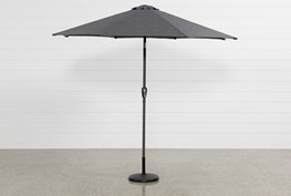 Outdoor Grey Parasol Umbrella