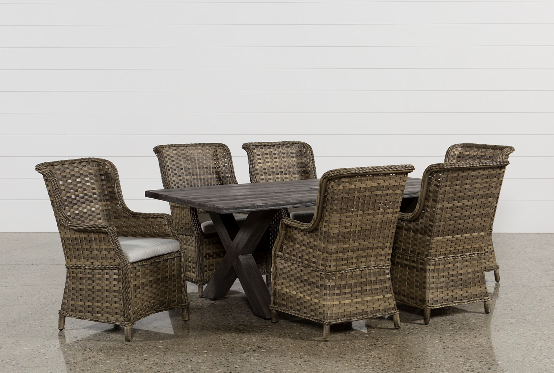 Outdoor Tortuga 7 Piece Dining Set W/Aventura Side Chair | Living Spaces