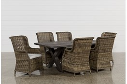 Outdoor Tortuga 7 Piece Dining Set W/Aventura Side Chair