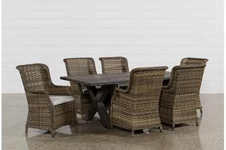 Outdoor Tortuga 7 Piece Dining Set W/Aventura Side Chair - Main