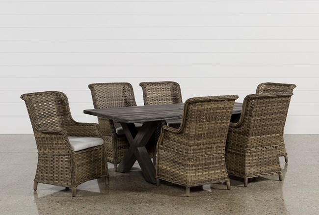 Outdoor Tortuga 7 Piece Dining Set W/Aventura Side Chair - 360