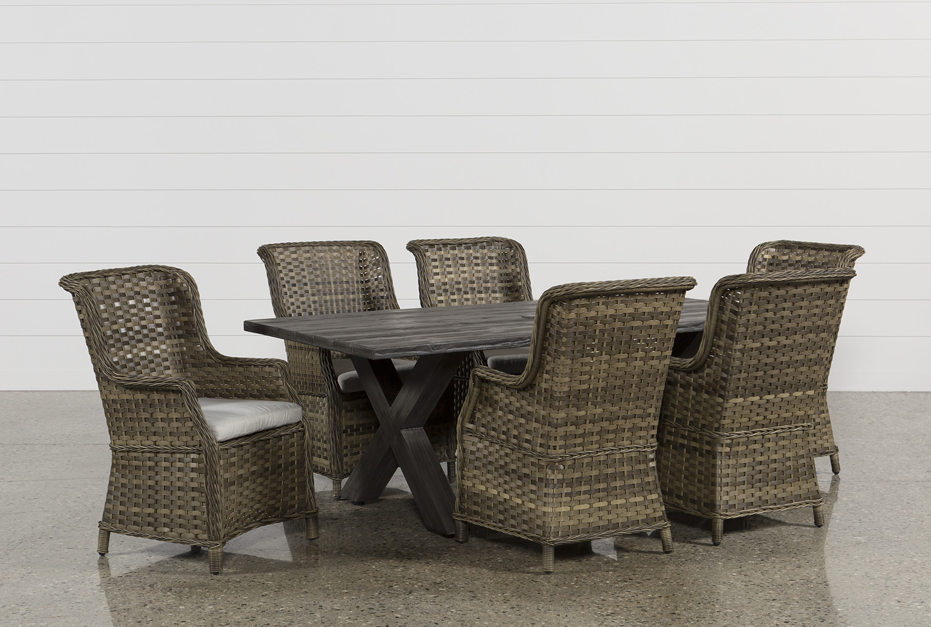 Outdoor Tortuga 7 Piece Dining Set W/Aventura Side Chair (Qty: 1) Has Been  Successfully Added To Your Cart.