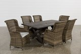 Outdoor Tortuga 7 Piece Dining Set W/Aventura Side Chair - Left