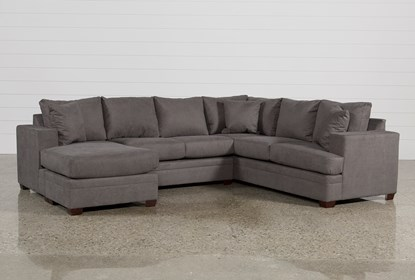 Admirable Kerri Charcoal 2 Piece Sectional With Left Arm Facing Chaise Ibusinesslaw Wood Chair Design Ideas Ibusinesslaworg