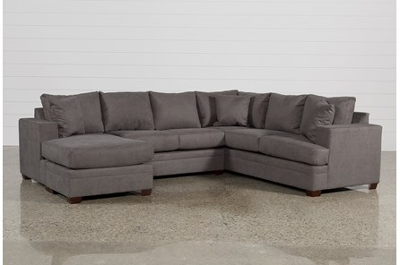 steal grey los a furniture sofa sectional outlet ashley fabric