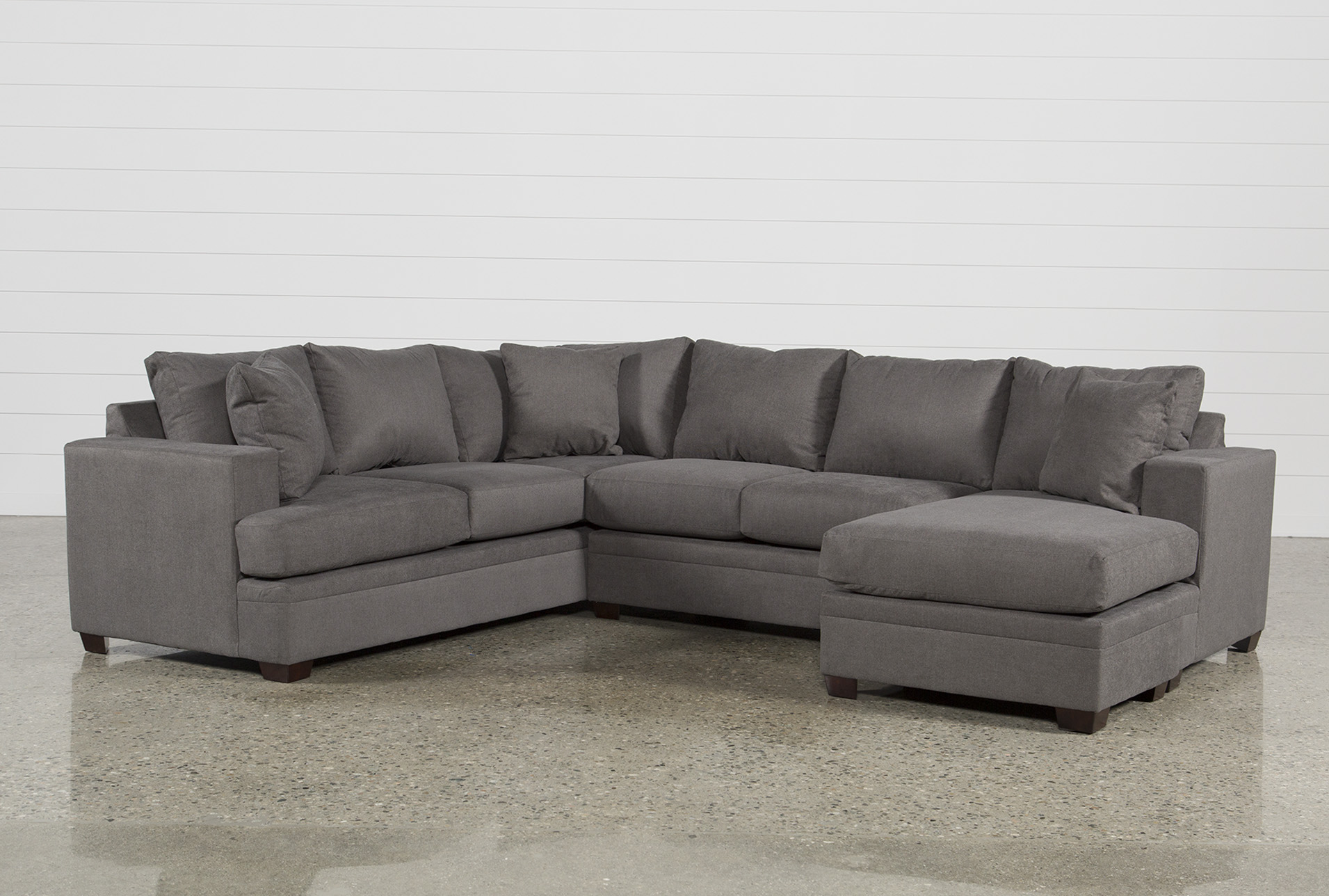 Kerri Charcoal 2 Piece Sectional With Right Arm Facing Chaise