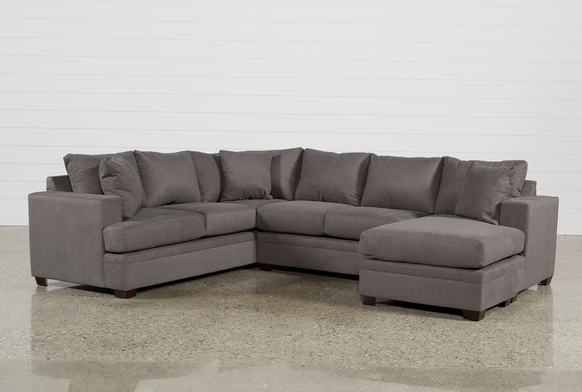Awesome Kerri Charcoal 2 Piece Sectional With Right Arm Facing Chaise Alphanode Cool Chair Designs And Ideas Alphanodeonline