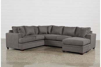 "Kerri Charcoal 2 Piece 126"" Sectional With Right Arm Facing Chaise"