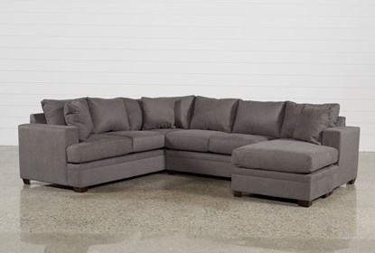 Fabulous Kerri Charcoal 2 Piece Sectional With Right Arm Facing Chaise Evergreenethics Interior Chair Design Evergreenethicsorg