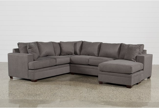 Kerri Charcoal 2 Piece Sectional With Right Arm Facing Chaise - 360