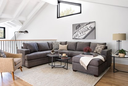 Enjoyable Kerri Charcoal 2 Piece Sectional With Right Arm Facing Chaise Forskolin Free Trial Chair Design Images Forskolin Free Trialorg