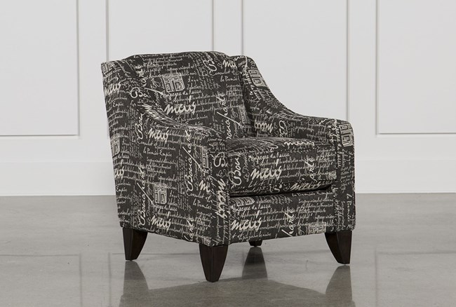 Hallie II Marquis Charcoal Accent Chair - 360