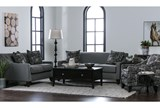 Hallie II Marquis Charcoal Accent Chair - Room