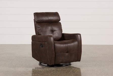 Lindsey Walnut Swivel Glider Recliner