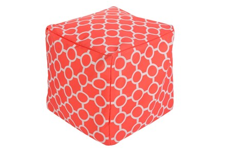 Pouf-Rain-Bright Orange - Main