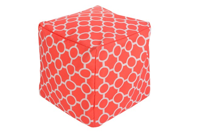 Pouf-Rain-Bright Orange - 360