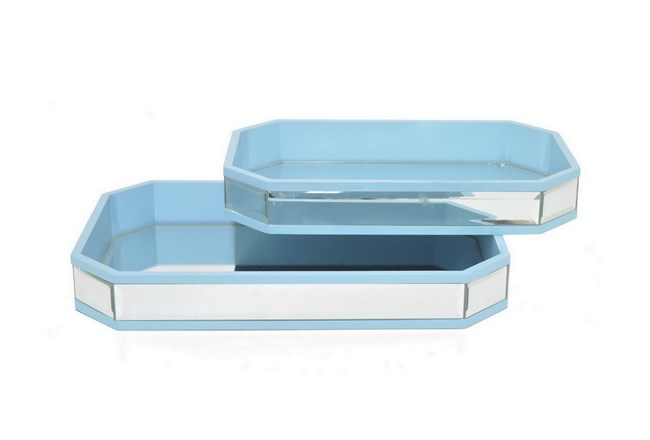 2 Piece Set Mirrored Trays - 360